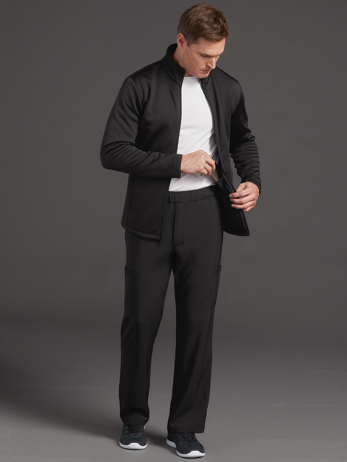 Mens Performance Fleece Jacket - Black - 8688 - Lotts of ...